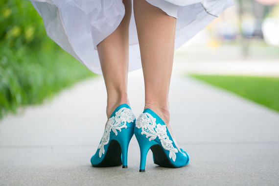 Wedding Shoes Blue And White - Best Wedding 2017