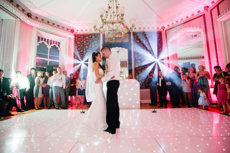 Fairy light dance floor