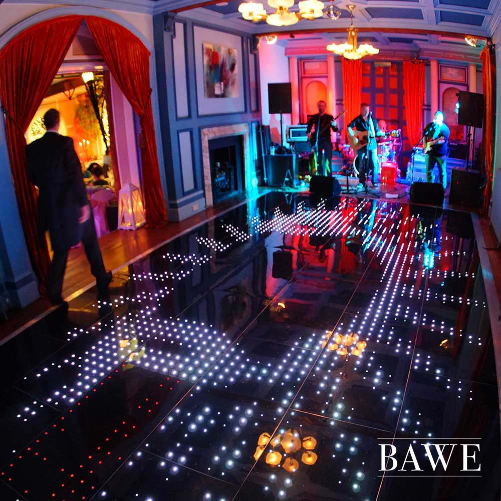 led dancefloor wedding